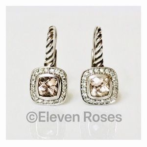 David Yurman Morganite & Diamond Albion Earrings